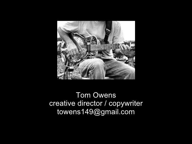 Tom Owens   Portfolio 8 15 09