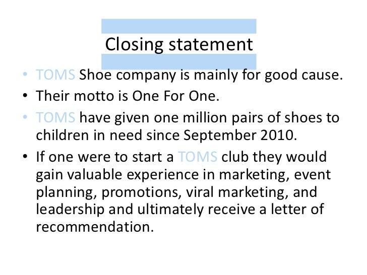toms mission statement
