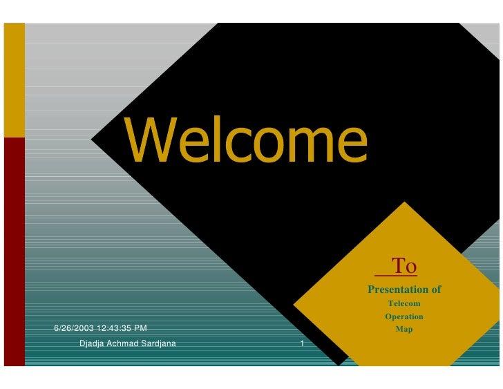 To                                   Presentation of                                      Telecom                         ...