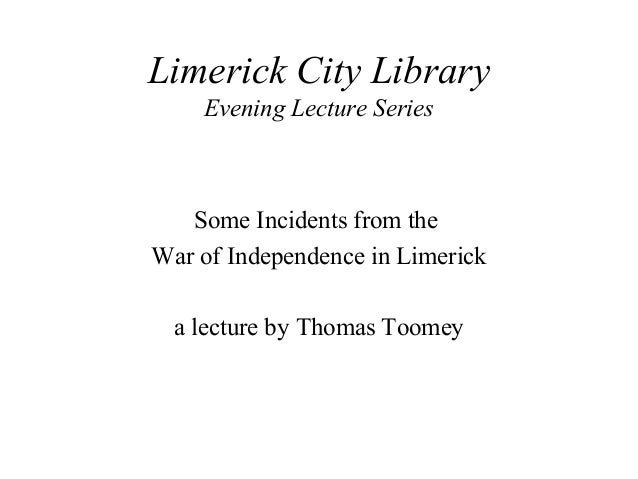 Incidents from the War of Independence in Limerick