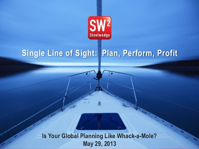 1© 2013 Steelwedge Software, Inc. Confidential.Tom Wallacewww.tfwallace.comSingle Line of Sight: Plan, Perform, ProfitIs Y...