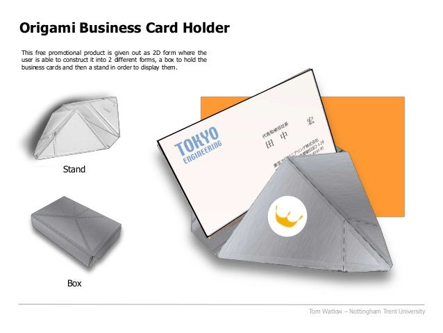 Origami Business Card Holderbpma Student Design Award entry