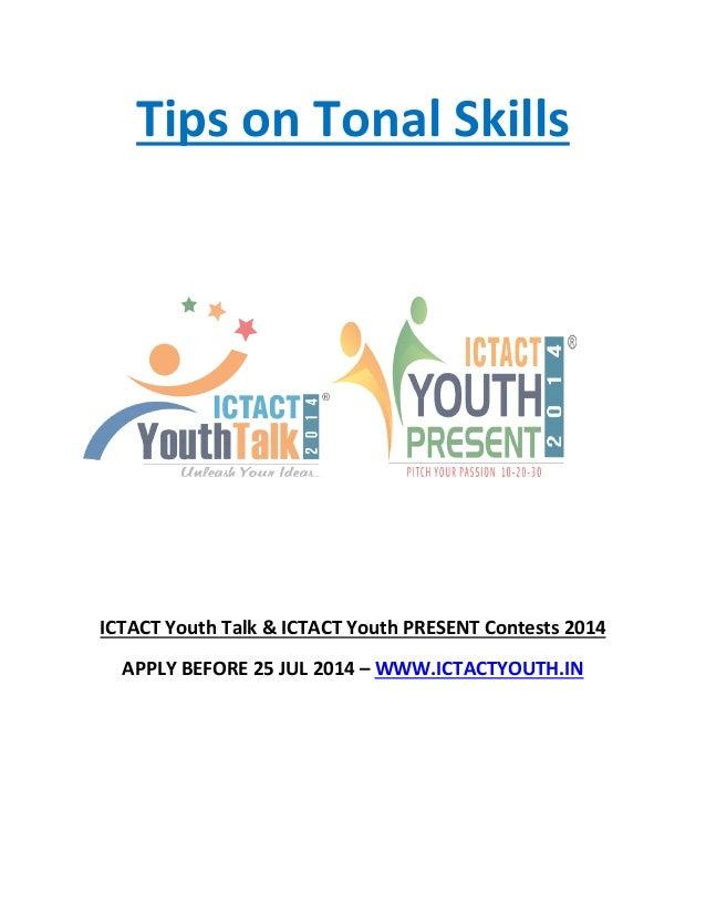 Tonal skills