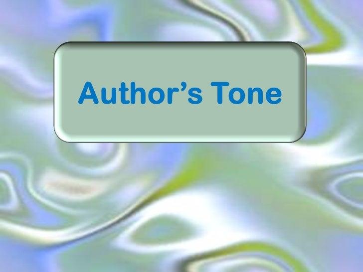 Tone in Literature Tone In Literature