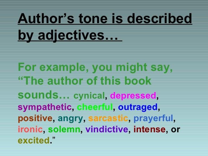 author s tone examples
