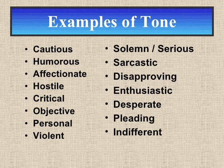 determining tone of an essay