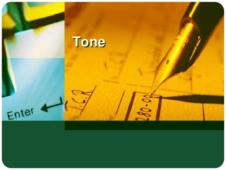 Tone <br />