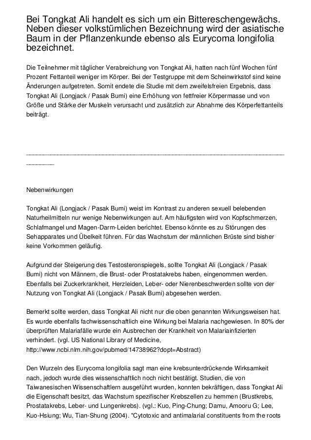 Bei Tongkat Ali handelt es sich um ein Bittereschengewächs.Neben dieser volkstümlichen Bezeichnung wird der asiatischeBaum...