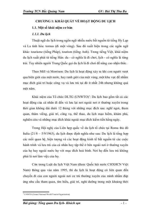 Trường TCN Bắc Quảng Nam                                   GV: Bùi Thị Thu Ba                CHƯƠNG 1: KHÁI QUÁT VỀ HOẠT Đ...