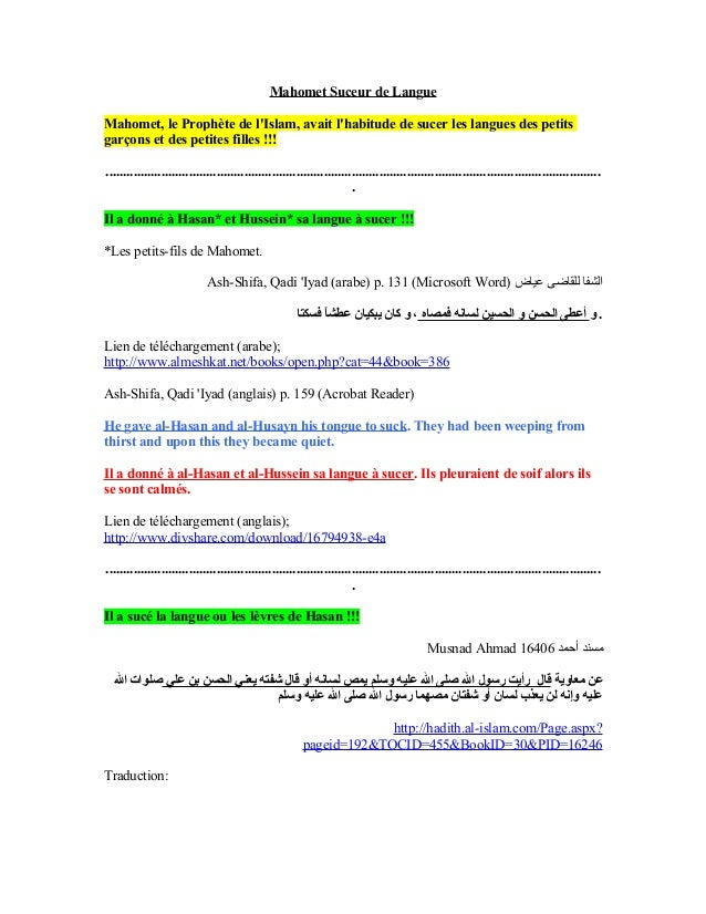 Mahomet Suceur de Langues