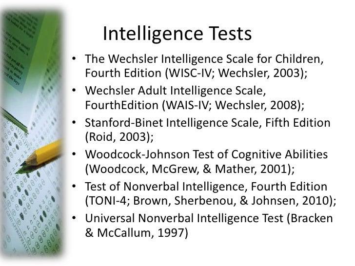 Wechsler adult intelligence test