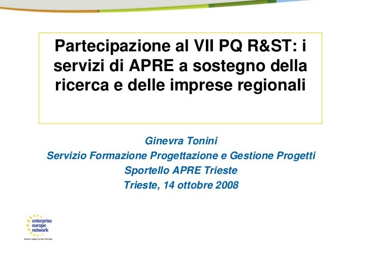 VII FP: services by AREA Science Park