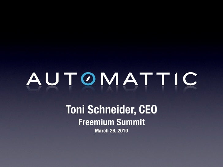 Freemium Summit Toni Schneider