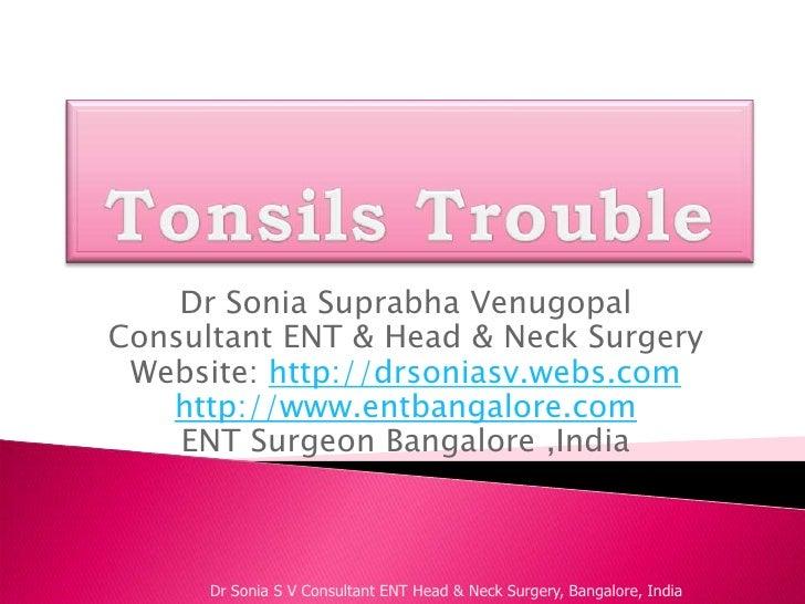Tonsillitis-ENT Doctor Bangalore