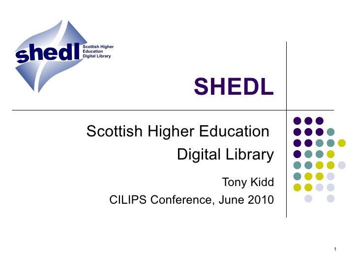 Scottish Higher Education Digital Library (SHEDL)
