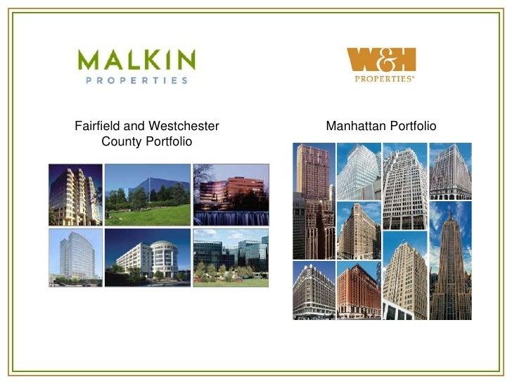 Fairfield and Westchester   Manhattan Portfolio     County Portfolio