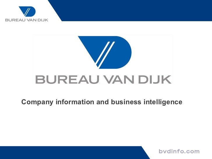 Company information and business intelligence