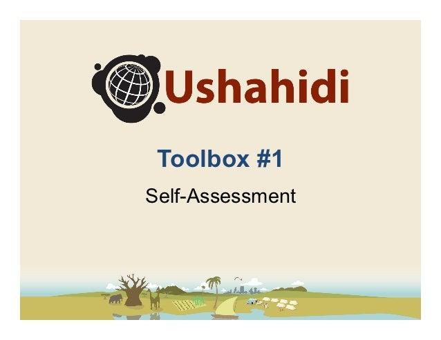 Ushahidi Toolbox - Assessment