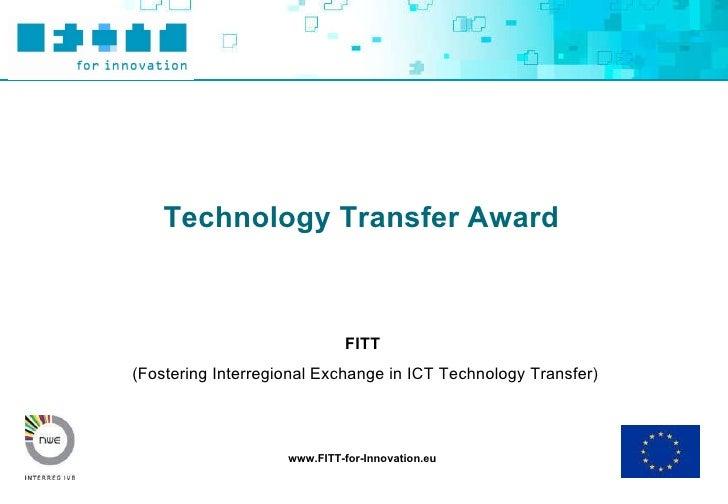 Toolbox award fo transfer projects final