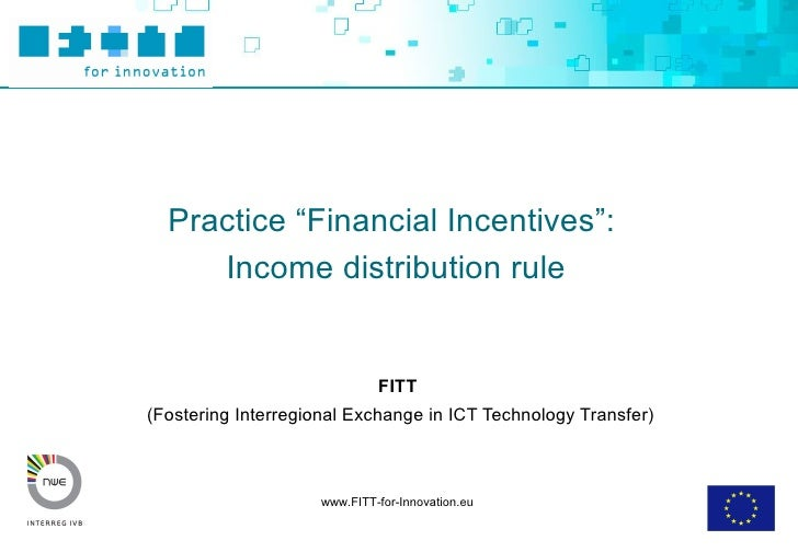 Toolbox Financial Incentives   Income Distribution Final
