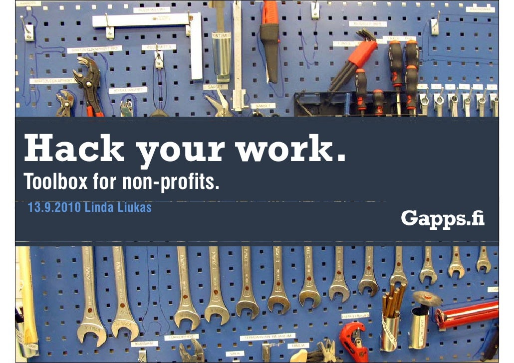 Hack your work. Toolbox for non-profits
