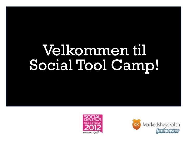 Velkommen tilSocial Tool Camp!