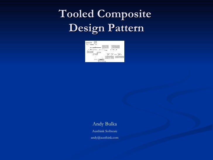 Tooled Composite  Design Pattern Andy Bulka Austhink Software [email_address]