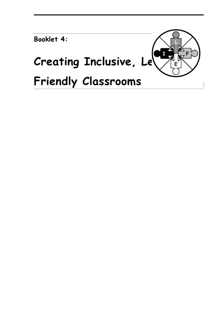 Booklet 4:                 L                         I       F Creating Inclusive, Learning-                           E  ...