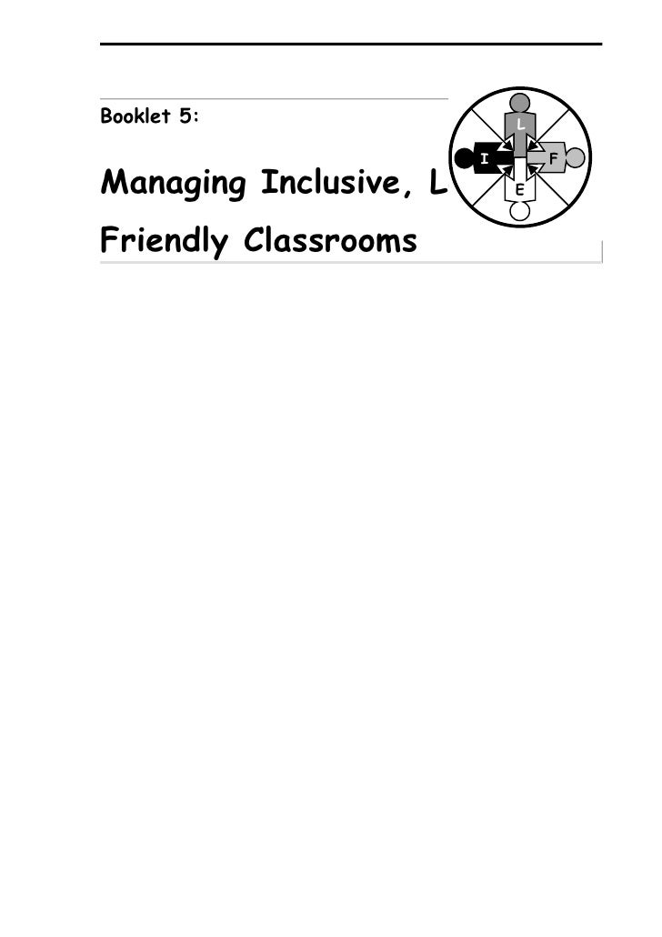 UNESCO toolkit 5: Managing Learning-Friendly Classrooms