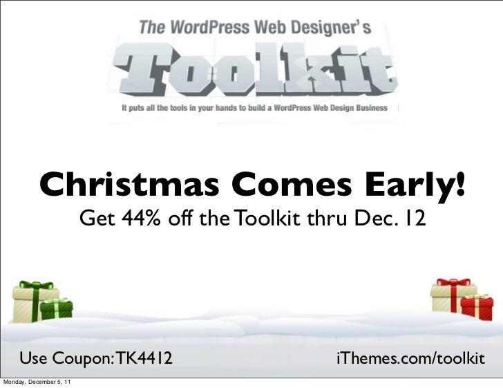 WordPress Web Designer's Toolkit Christmas Sale