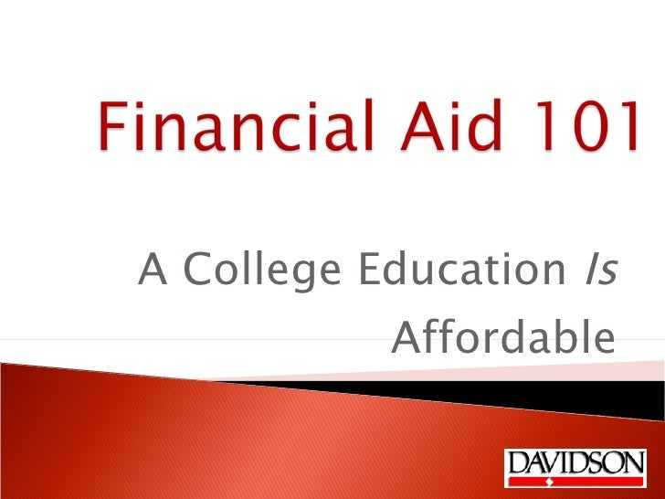 Tools of the Trade: Financial Aid 101: Education is Affordable