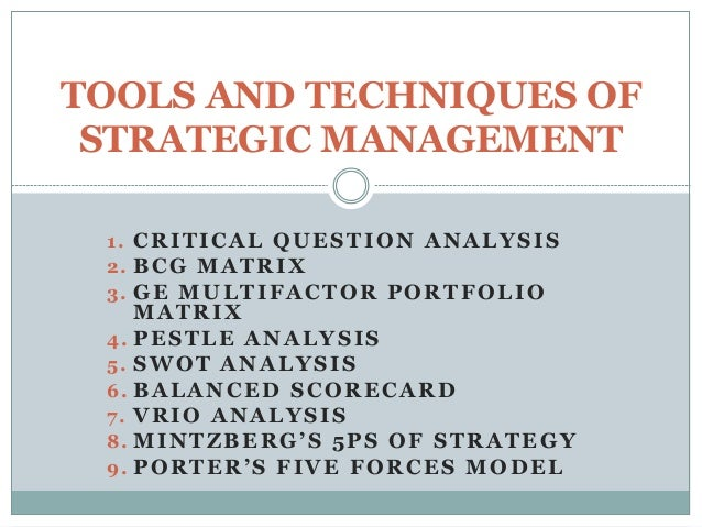 Critical Analysis of Strategic Management
