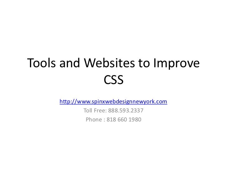 Tools and websites to improve css