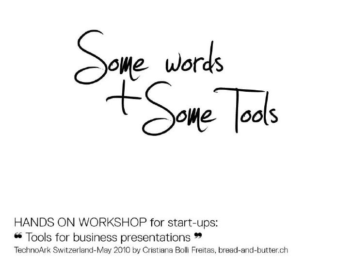 design tools for start-up presentations