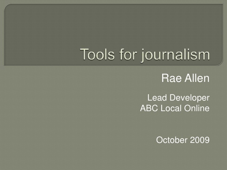 Tools For Journalism