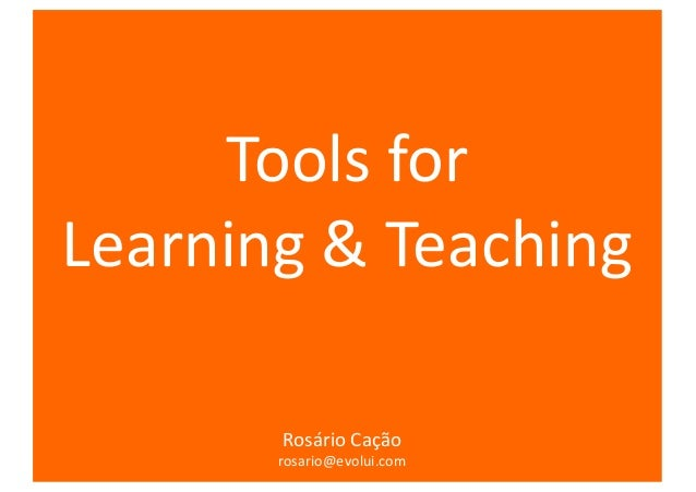 Tools for learning and teaching rosario cacao