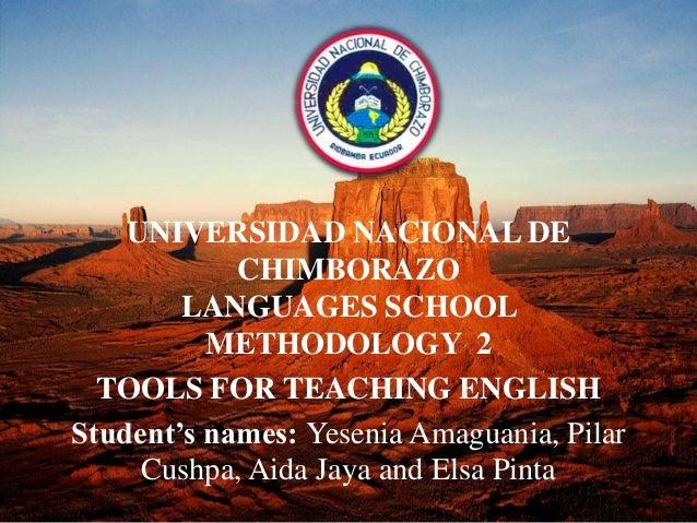 Tools for teaching english
