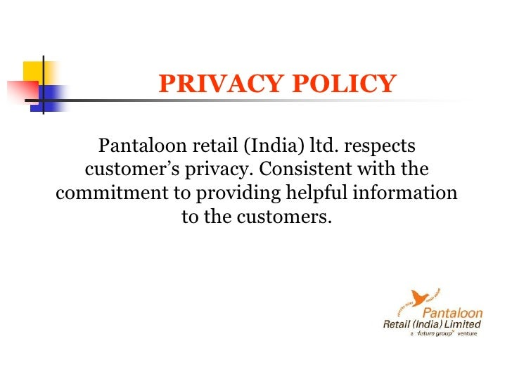pantaloons retailing and draft letter Retail sales assistant cover letter retail sales assistants provide support to customers and make sure they enjoy a pleasant shopping experience.
