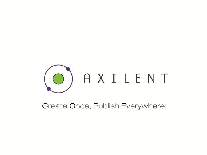 Axilent Tool Talk from Breaking Development 2012