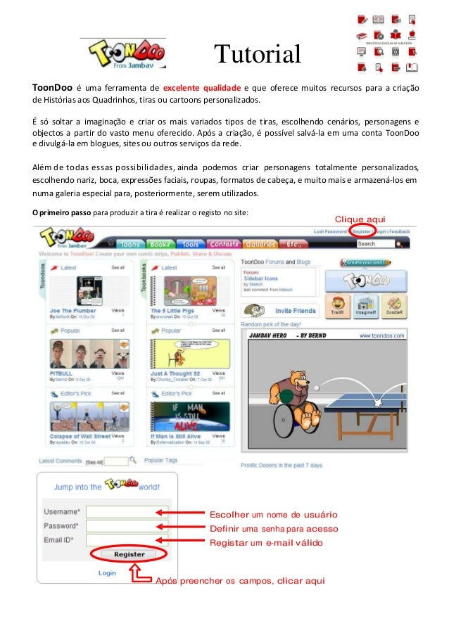 Toondoo tutorial be ae_albufeira