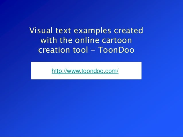 Visual texts - cartoons for learning