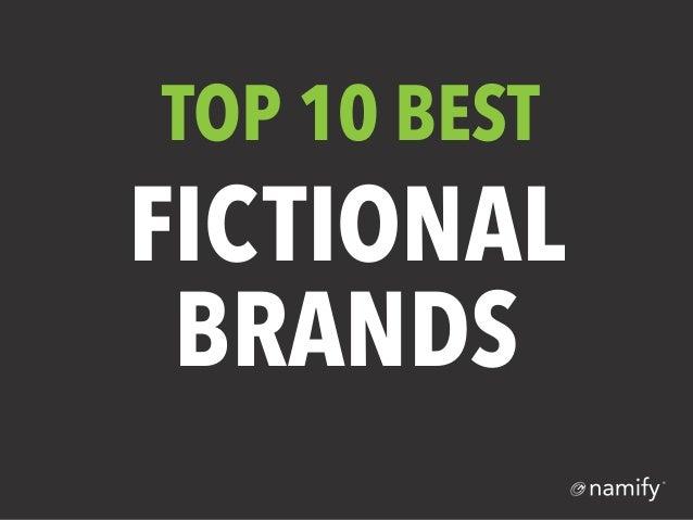 Top 10 Fictional Brands