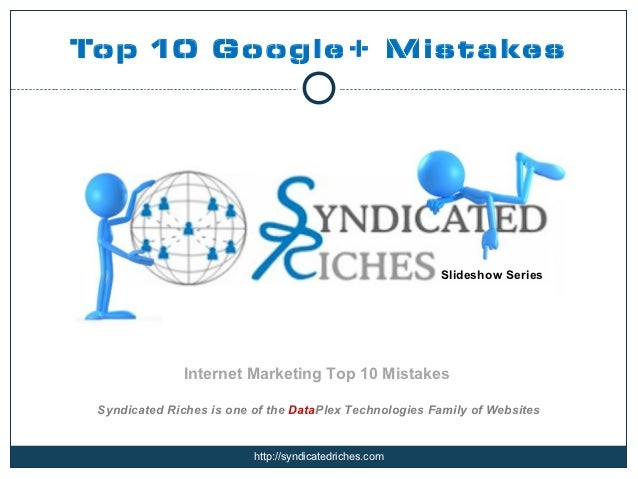 Top 10 Google+ Mistakes