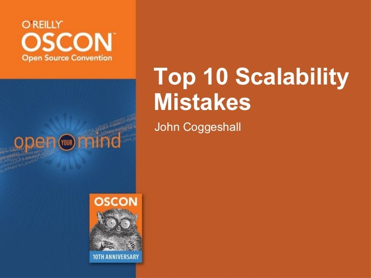 Top 10 Scalability Mistakes