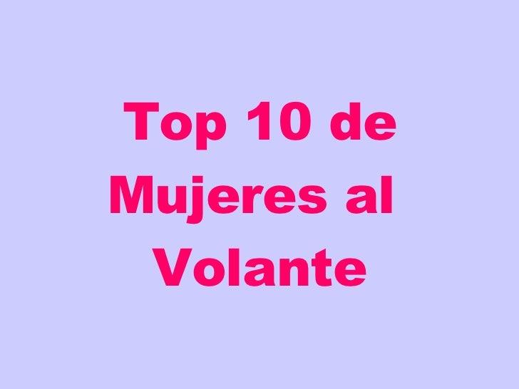 Top 10 Sobre Ruedas