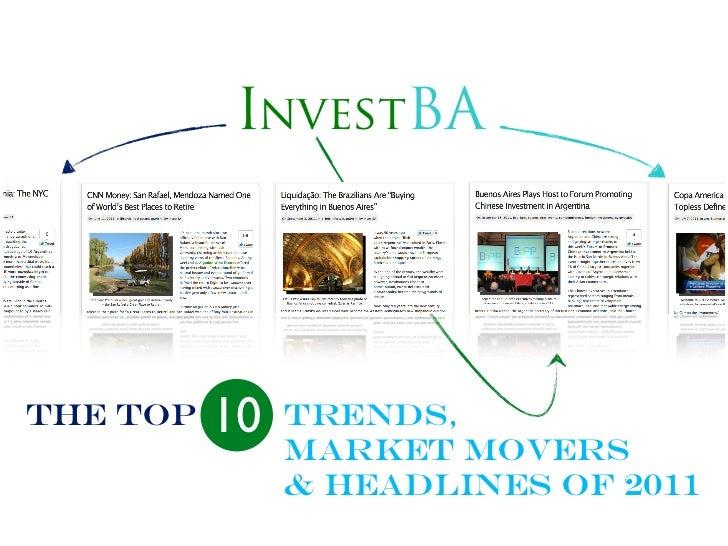 THE Top   10   Trends,               Market Movers               & Headlines of 2011