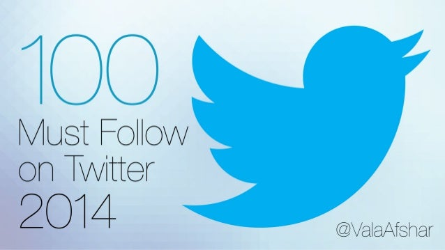 100 Must Follow on Twitter – 2014