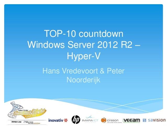 TOP-10 countdown Windows Server 2012 R2 Hyper-V