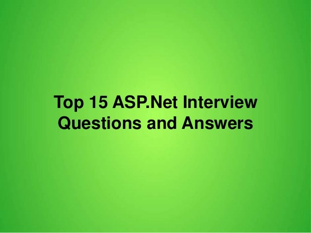 MVC Interview Questions and Answers for Experienced