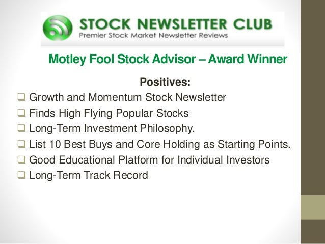 Stock options newsletters